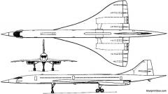 aerospatiale bac concorde 1969 model airplane plan