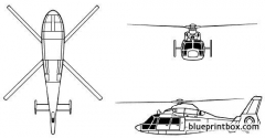 aerospatiale dauphin model airplane plan