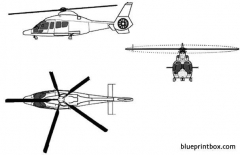 aerospatiale hh 65a dauphin model airplane plan