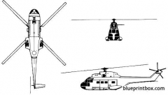 aerospatiale puma model airplane plan