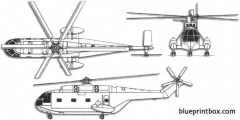 aerospatiale sa321g super frelon model airplane plan
