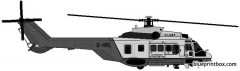 aerospatiale sa322 puma l2 model airplane plan