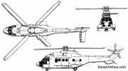 aerospatiale sa332 super puma model airplane plan