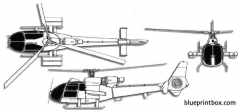 aerospatiale sa341 gazelle model airplane plan