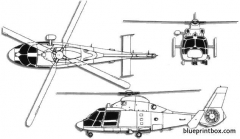 aerospatiale sa365 dauphin 2 model airplane plan