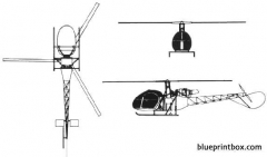 aerospatiale sa 318 alouette ii model airplane plan