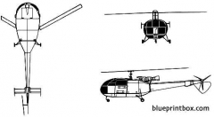 aerospatiale sa 319 alouette iii model airplane plan