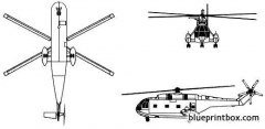 aerospatiale sa 321 super frelon model airplane plan