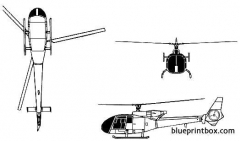aerospatiale sa 341 gazelle model airplane plan