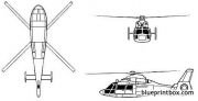 aerospatiale sa 360 dauphin model airplane plan