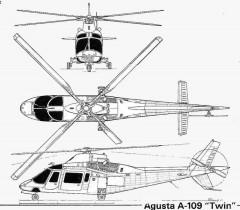 agusta109 3v model airplane plan