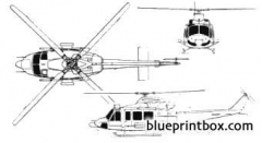 agusta bell ab 412 griffon model airplane plan