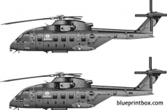 agusta westland aw 101 tti model airplane plan