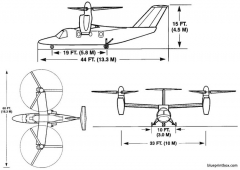 agustawestland ba609 model airplane plan