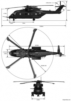 agustawestland eh080508 2 model airplane plan