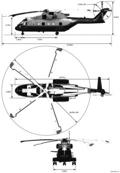 agustawestland eh080624vvip 2 model airplane plan