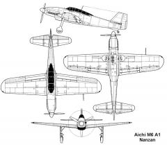 aichi m6 3v model airplane plan