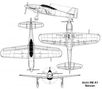 aichi m6 3v model airplane plan