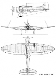 aichi val 3v model airplane plan