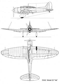 aichi val 3v model airplane plan