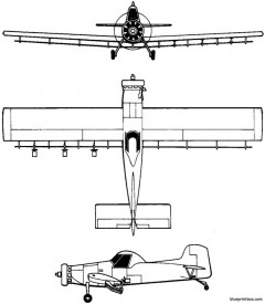 air tractor at 301 air tractor 1973 usa model airplane plan
