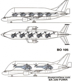 airbus a300 600st beluga 1994 model airplane plan