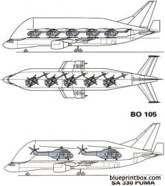 airbus a300 600st beluga 1994 model airplane plan