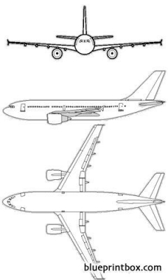 airbus a310 model airplane plan