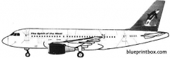 airbus a319 model airplane plan