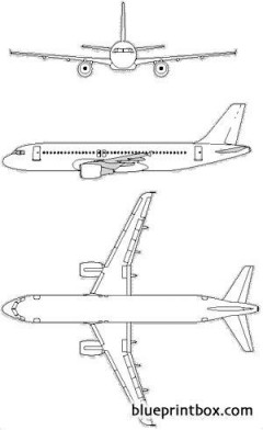 airbus a320 model airplane plan