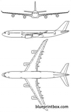 airbus a340 200 model airplane plan