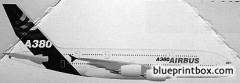 airbus a380 2 model airplane plan