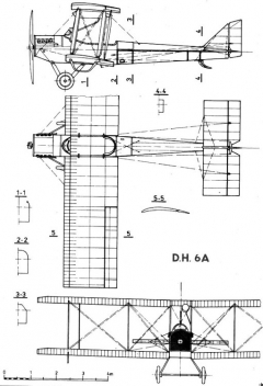 aircodh6 3v model airplane plan