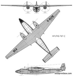 airspeed ambassador 2 model airplane plan