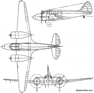 airspeed as65 consul 1946 england model airplane plan