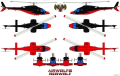 airwolf2 redwolf model airplane plan