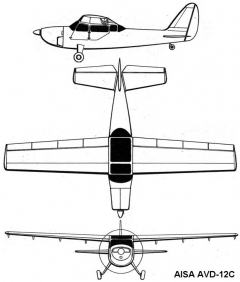 aisa 12 3v model airplane plan