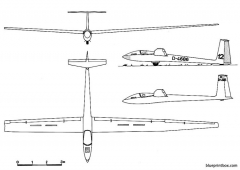 akaflieg darmstadt d 36circe model airplane plan