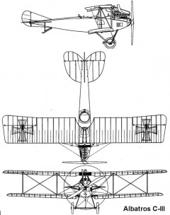 albatros c3 3v model airplane plan