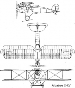 albatroscxv 3v model airplane plan