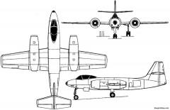 alekseev i 211 1947 russia model airplane plan