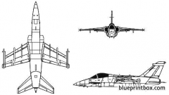 alenia aermacchi embraer amx model airplane plan