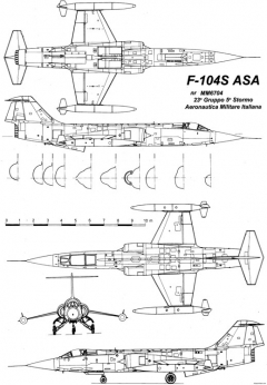 alenia f 104s asa 2 model airplane plan
