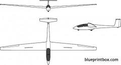 alexander schleicher ask 21 model airplane plan