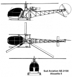 alouette2 3v model airplane plan
