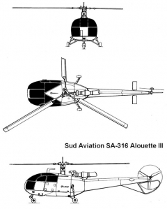 alouette3 3v model airplane plan