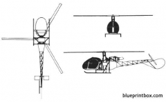 alouette ii model airplane plan