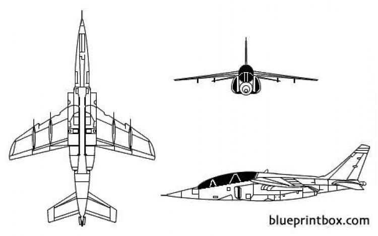 alpha jet model airplane plan