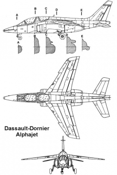 alphajet 3v model airplane plan