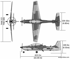 alx tucano04 model airplane plan